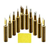 A-BF 10pcs 900M-T Soldering Iron Tips Gold for Hakko, TENMA, ATTEN, QUICK, Aoyue