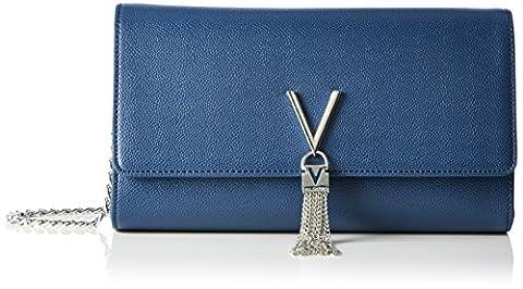 Valentino by Mario Valentino Damen Divina Clutch, Blau (Blu), 6.0 x 15.0 x 27.0 cm