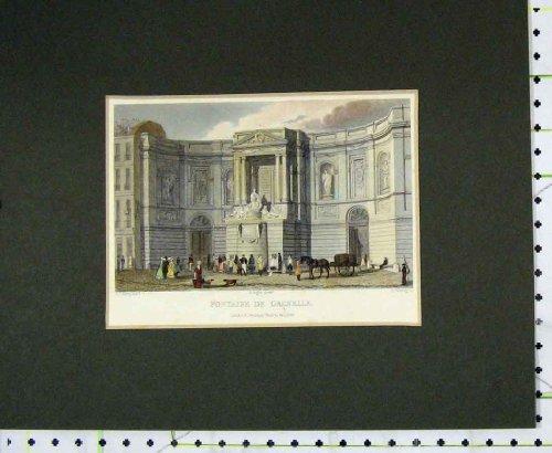 Anteprima di Stampa Colorata 1828 Mani Fontaine De Grenelle