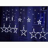 ZAOFAN Lampade Da Parete Natale Luci Di Stringa Colore Barlume Stella All'Aperto Decorazione Impermeabile Applique LED Illuminazione Soggiorno Camera Letto Ristorante Capezzale Bar , blue , 2.5m