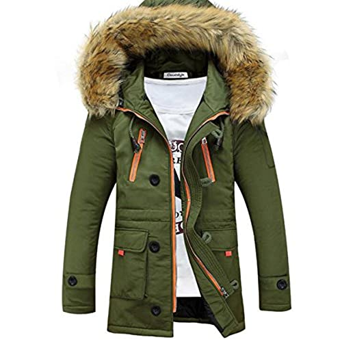 Mens Parka Coats Fur Hood: Amazon.co.uk