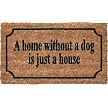 Perros - A Home Without A Dog Is Just A House, Estilo Retro Felpudo Alfombrilla (70 x 40cm)