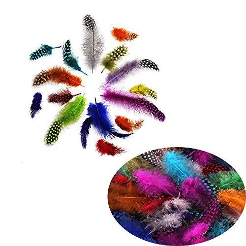 200 pezzi piume colorate,piume naturale d'oca decorazioni per arte mestiere cattura sogni copricapo nozze festa creazione di gioielli piume morbide e soffici per artigianato fai da te copricapo