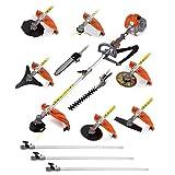 GREENCUT GM650Freischneider 9-in1Multifunktionswerkzeug, Hochentaster und Heckenschere, Orange