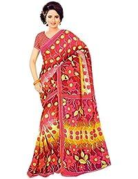 The Wardrobe Women's Georgette Saree(Wardrobe011_Multi-Coloured_Free Size)