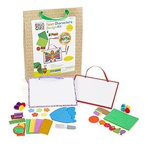 Kids Preferred 10667Juego de Manualidades con Dos lienzos de Papel para Pintar y Manualidades Material y lápices y Motivos de La pequeña Oruga, favorece la Creatividad