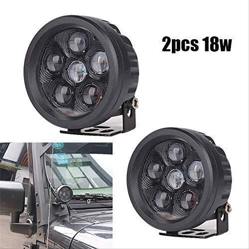 FQGFZ Lampe 2 stücke 18 Watt auto kopf licht LED ARBEITSLICHT FÜR OFF ROAD ATV UTV SUV 4x4 zubehör Auto Arbeitslicht Fahren Nebelscheinwerfer auto styling