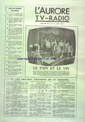 AURORE TV RADIO (L') du 05/06/1978 - SELECTION...
