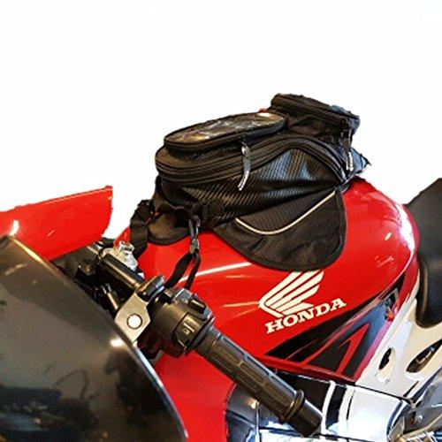 Hmmj nuova moto bisaccia, impermeabile oxford piccolo olio combustibile magnetico borsa da serbatoio, 35 * 17cm, universale per tutti i tipi di serbatoio