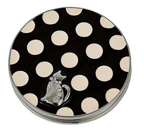 Gentie Katze Compact Spiegel Dot Muster g-4424bk