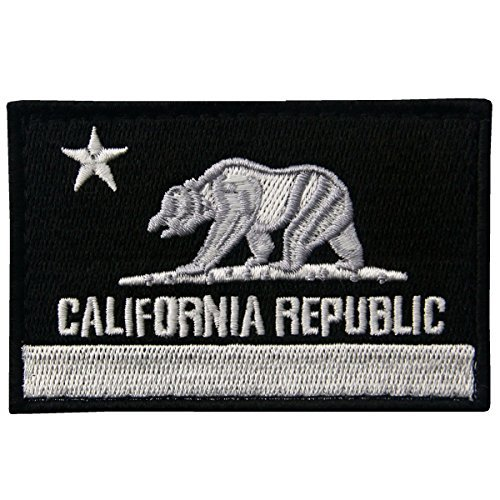 Kostüm Girl Billig Army - embtao California Tactical bestickten Applikation Verschluss Haken & Schleife Patch weiß/schwarz
