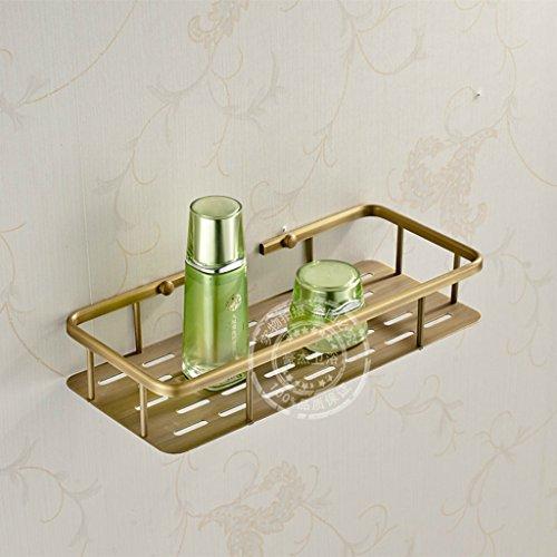 Stile Europeo ottone antico singola mensola mensola del bagno