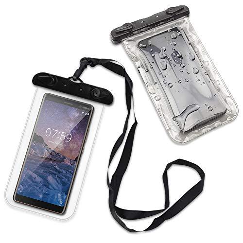 Schutzhülle Wasserdicht kompatibel für Nokia Serie Handy Hülle Tasche Unter Wasser Schutz Case, Farbe:Ultra Clear, Smartphone:Nokia 5 Dual-SIM