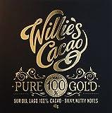 3X Willie's, Pure Gold, 100% Dark Chocolate bar, 65g Size, Saver Bundle