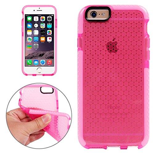 Wkae Case & Cover Pour le cas de protection iPhone 6 &6s Honeycomb Texture TPU ( Color : White ) Magenta