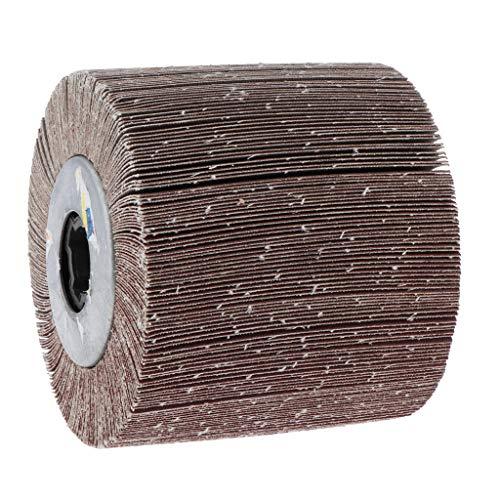 B Blesiya Polieren & Schwabbelscheiben Polierpad Schleifrad Lamellenrad-/Vlies-Schleifrad, für Edelstahl/Aluminium/Kupfer - 320 körnung