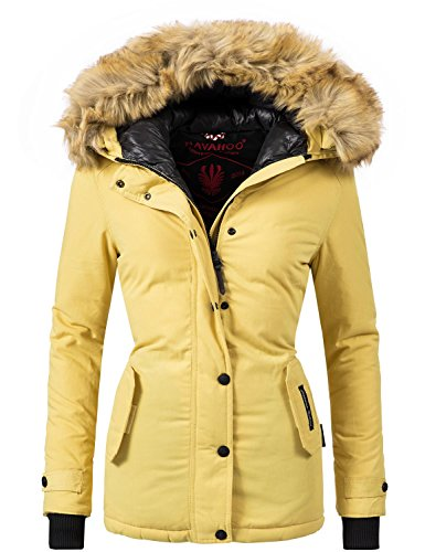 Navahoo laura giacca trapuntata invernale da donna giallo xl