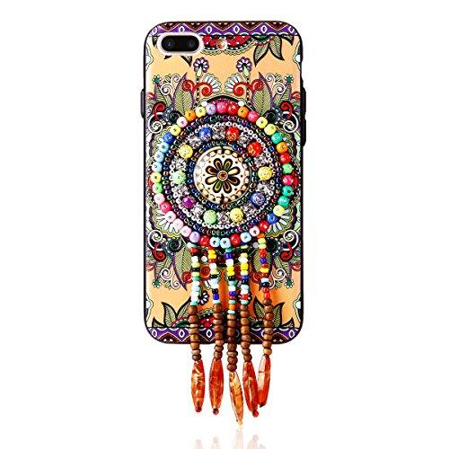 """iPhone 7Plus Hülle, iPhone 7Plus Handytasche CLTPY Premium Weich Silikon Case, Luxury Bunt Vintage Jewelry Handmade Schale Etui für 5.5"""" Apple iPhone 7Plus (Nicht iPhone 7) + 1 x Stift - Retro Totem 1 Retro Totem 2"""