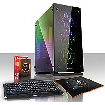 Fierce Storm PC-Gaming Veloce Computer da Gioco - Octo-Core 8x Nucleo AMD Ryzen 7 1700 3.7GHz - 16GB per 2133MHz DDR4 RAM Super Veloce - Nvidia GeForce GTX 1050 2GB - 374404