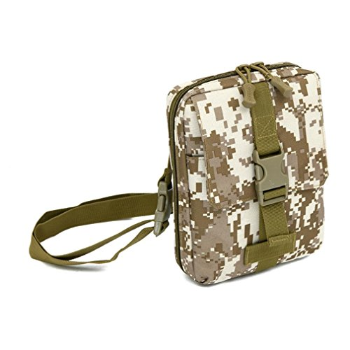 F@Esercito ventilatore nylon impermeabile borsa a tracolla borsa all'aperto borsa borse tattiche Messenger borse uomo custodia tool Digital Camo , F E