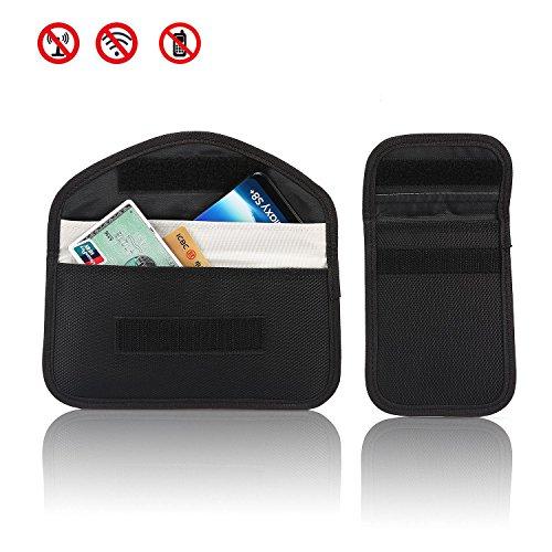 RFID Autoschlüssel Signalblocker Fall (2 Pack), Pawaca Keyless Eintrag Fob Guard Signalblocker Beutel, Anti-Diebstahl-Lock-Geräte, Handy-Datenschutz-Schutz Sicherheit WIFI/GSM/LTE/NFC/RF Blocker