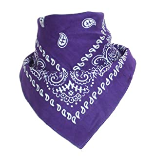 Bandana with original Paisley pattern in purple