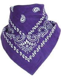Bandana motif paisley origine violet