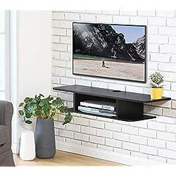 FITUEYES Meuble Télé avec Support pour Téléviseur de 47 à 55 Pouce Ecran LED avec Rangement pour DVD CD AV Equipement DS210501WB