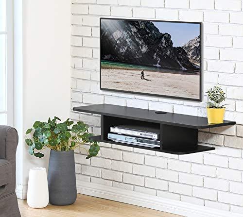 FITUEYES Madera Grano Mesa Flotante TV Mueble TV Pared