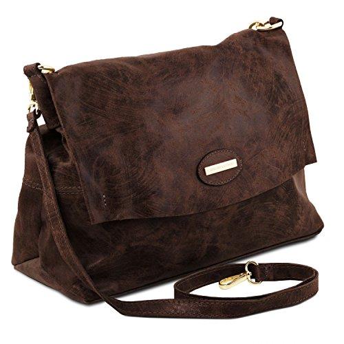 Tuscany Leather TL Bag Borsa a mano in pelle effetto invecchiato Testa di Moro Testa di Moro