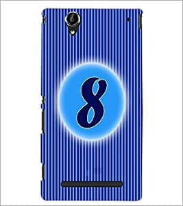 PrintDhaba Numerology Number 7 D-2562 Back Case Cover for SONY XPERIA T2 ULTRA (Multi-Coloured)