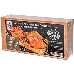 "Masterpiece ""light SIX"" - Aroma Grillbretter aus Zedernholz, 12 mm stark, Grillplanke Premium Qualität, Set á 6 Stk, Maße: 145 x 295 mm, BBQ Räucherbretter im günstigen 6er Pack"