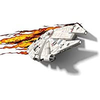 3D Light FX 50034 Star Wars Millennium Falcon 3D Deco Light, Plastic, White/Grey/Cream