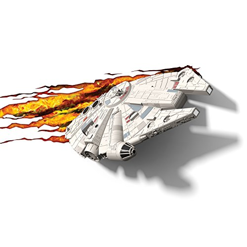 3d light fx lampada led 3dlightfx-star wars ep7 millennium falcon con timer, 39 x 8 x 22 cm