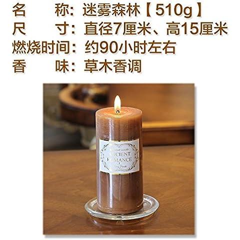 Velas de aromaterapia velas incienso no fumadores petróleo importado continental flores mixtas naturales almizcle ,2,7*15cm