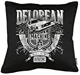 TLM Delorean Machine Outatime cuscino con imbottitura 40x 40cm