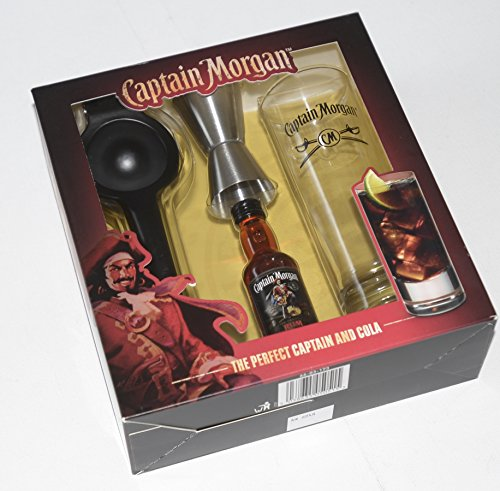 captain-morgan-original-rum-tall-glass-and-5cl-miniature-with-branded-jigger-and-lime-squeezer