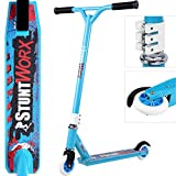Deuba Stunt Scooter Pro Kick Push 360 Spin Jump Tricks Kids Kickboard Children