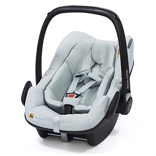 Maxi-Cosi 8798911110 Pebble + nacelle pour bébé Groupe 0+ I-SIZE (0-13 kg), utilisable dès la naissance jusqu'à environ FamilyFix One Base Gris 12 mois