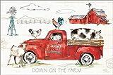 Poster 120 x 80 cm: Down on The Farm II von Anne Tavoletti/Wild Apple Graphics - Hochwertiger Kunstdruck, Kunstposter