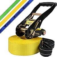 Slackline Princess 10 m Slackline para niños de BB Sport (2 t), Color:amarillo