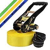 Slackline 10 m Princess Kinderslackline von BB Sport (2 t), Farbe:gelb