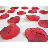 """100 petali di rosa """"Ti amo"""" rosso San Valentino"""