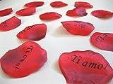 100 petali di rosa 'Ti amo' rosso San Valentino