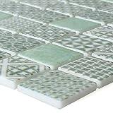 Glasmosaik Fliesen Malard Grün | Wandverkleidung Mosaikstein Badezimmer Badmosaik Badfliesen Bad Verblendstein