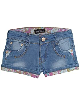 Kinder Mädchen Kurze Hose Bermuda Shorts Sommer Capri Pump Pants Jeans 20411