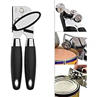 Can opener,HanDingSM Ergonomic Smooth Edge Side Cut Manual Can Opener with Good Soft Grips Handle