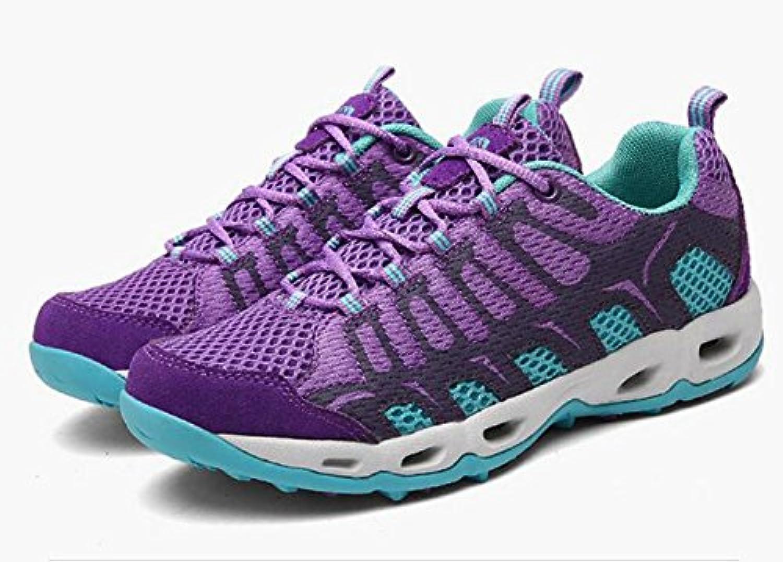 Z&HX sportsZapatos Para Caminar Al Aire Libre Zapatos Para Caminar Antideslizante Antideslizante Desgaste, Purple...