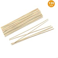 Esnow 120 pedazos de aceite de madera de caña difusor Sticks reed ratán de recambio para fragancia de aroma, 9.45 pulgadas