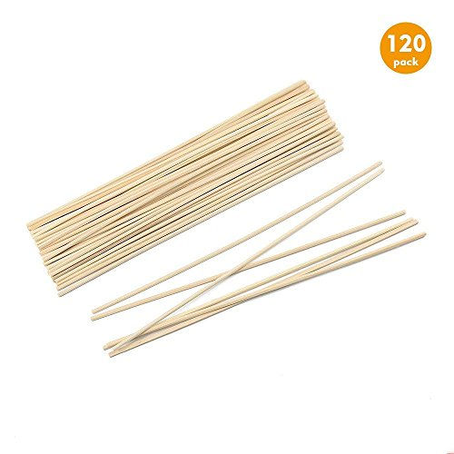 Esnow 120 pièces Reed bois huile diffuseur bâtons de bâton de Reed de rotin de remplacement pour arôme, 9.45 pouces